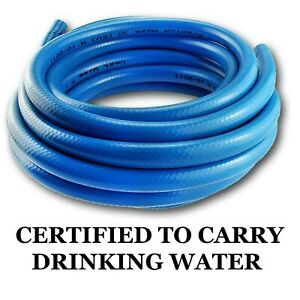 Strong BLUE Hose __4 LAYER - Drink Water Certificate Pipe Camper Boat /// 10~60m