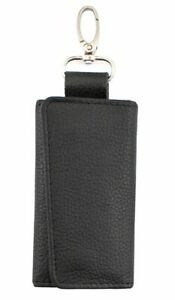 Genuine Cowhide Leather Case Key Ring Wallet  with 6 hocks snap closure