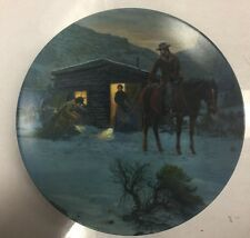 "Edwin Knowles ""Christmas in the New Cabin"" Collector Plate 1988."