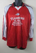 Vtg German Football Shirt Retro Soccer Jersey Red Maillot #9 Trikot L Large