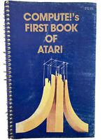 ⭐️ Vintage 1981 Atari Compute!'s Paperback Spiral Bound old Book Nice Pages 🎏