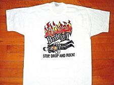 * BRACKET Stop Drop Rock Fat Wreck Chords * Vintage 1997 NEW T Shirt L Original