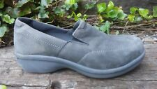 Womens WORX Steel Toe Work Safety Shoes Leather Grey Size 6 / 36