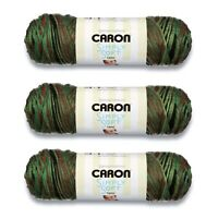 Caron Simply Soft Camo Yarn, 3 Skeins, Gauge 4 Medium Worsted