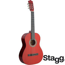 Stagg C542 MADRID Full Size Nylon Classical Acoustic Guitar - TRANSPARENT RED