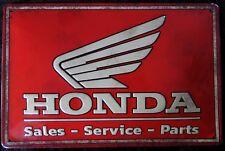 HONDA LOGO MOTORRAD, BLECHSCHILD 20 x 30 cm