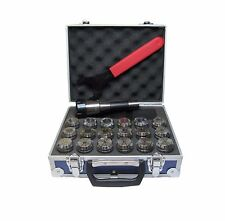RDGTOOLS R8 ER32 COLLET CHUCK SET 18PC 2-20MM ONE COMPLETE BOX BRIDGEPORT