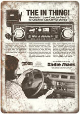 "Radio Shack Realistic CB AM/FM Car Stereo10"" x 7"" Reproduction Metal Sign D49"