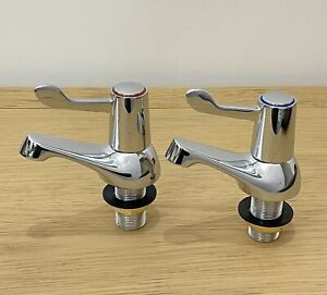 Standard Lever Bath Taps (Pair) Hot and Cold Chrome - RRP £27.60