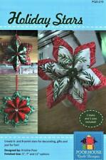 Holiday Stars Ornament ~ Decor Easy Sewing Pieced Quilt Pattern 3 Sizes