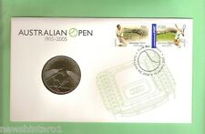 #C17.  PNC STAMPED COVER & $5 COIN - 2005 AUSTRALIAN TENNIS OPEN