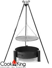 Schwenkgrill Cook King schwarz Grill-Rost Stahl Ø 50cm+Feuerschale Haiti 60cm