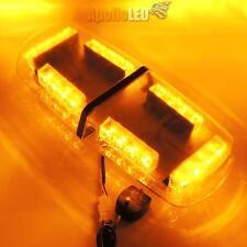 New All Amber LED Heavy Duty Snow Plow Safety Alert Warning Strobe Light Bar F2
