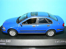 Volvo S 40 in Blue with Black Interior . 2000 model  Minichamps 1:43rd .scale