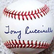 TONY CUCCINELLO (D.1995) (DODGERS WHITE SOX TIGERS) SIGNED ONL BASEBALL PSA/DNA