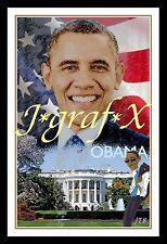 PRESIDENT BARACK OBAMA - USA FLAG - PORTRAIT POSTER - REALLY COOL ARTWORK!!!