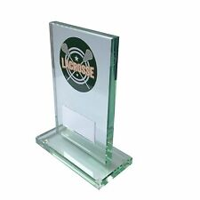 Glass Lacrosse Trophy award. Free Engraving