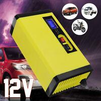 12V 8A Car Battery Charger Intelligent Motorcycle Pulse Repair LCD Boat Caravan