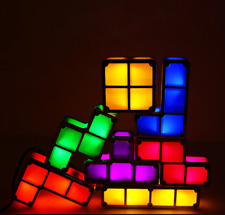 DIY Tetris Puzzle Light Stackable LED Night Light Constructible Block Desk Lamp