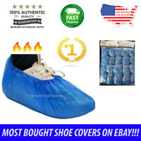 100x Waterproof Disposable Shoe Covers Overshoes Protector Plastic USA SHIPPING