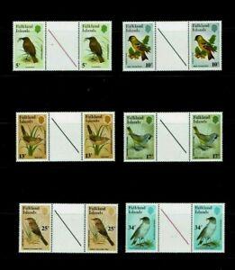 Falkland Islands:  1982, Native Birds, MNH Gutter set