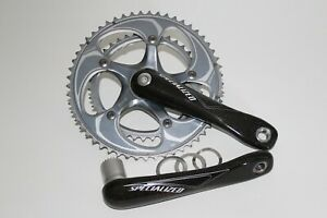 SPECIALIZED CARBON CHAINSET / CRANK 172.5mm 10 SPEED DOUBLE ROAD BIKE BB30 *