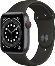 Reloj de Apple serie 6 GPS 40mm/44mm (gris), aluminio (Negro Deporte Banda) byfedex