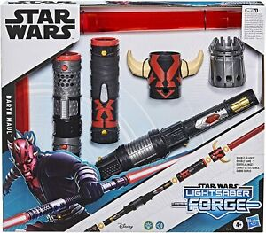 STAR WARS LIGHTSABER FORGE DARTH MAUL DUAL BLADE FX LIGHTS RED SITH CUSTOMIZABLE