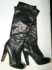 Jessica Simpson knee high leather platform high heel sexy boots size 7.5