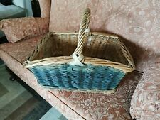 Vintage wicker picnic basket/ veg /fruit /shopping.