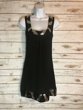 Express Cotton Like Sleeveless Sequin Party Dress, XS
