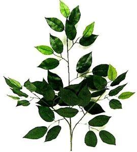 Ficus Spray Artificial Greenery Branch Silk Wedding Decor Fake Arch Swag Runner