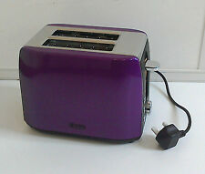 Low Wattage Quest Purple Stainless Steel 2 Slice Toaster For Caravan Motorhome