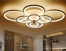 Modern Remote Control Chandelier LED Acrylic Ceiling Light Flush Mount Lamp