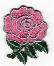 Da Stirare/ Da Cucire Patch Ricamato Distintivo Bocciolo Di Rosa Rose Bud Rosa