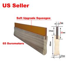 1pc 9inch Silk Screen Printing Squeegee Ink Scraper Scratch Board 65 Durometer