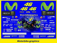 2017 MOVISTAR ROSSI  Moto  GP Full race decals graphics Stickers Kit BIN