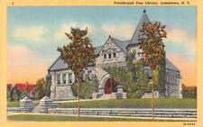 JAMESTOWN, NY New York  PRENDERGAST FREE LIBRARY Chautauqau Co  c1940's Postcard