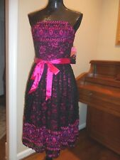 NEW Betsey Johnson Formal Dress Party Prom Cocktail Pink Small 2