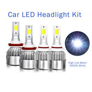 6000K For Dodge Ram 1500 2500 3500 2009-2018 Combo LED Headlight Light Bulbs 4pc