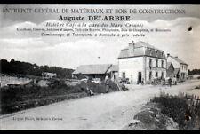 """LES MARS (23) MATERIAUX / HOTEL & CAFE de la GARE """"Auguste DELARBRE"""" en 1912"""