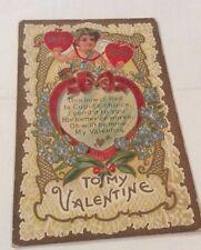 Vintage Paper Ephemera, Postcard, Linen, Valentine Themed, True Love