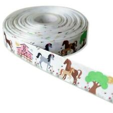 Polo de impresión de caballo de 1 Metros de Cinta de Grogrén Diseñador 22mm Tortas arco ficticio Verde