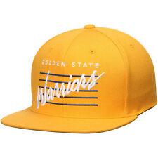 Golden State Warriors Mitchell & Ness Cursive Retro Script Snapback Cap Hat