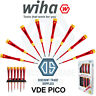 WIHA Slot/Phillips Pico PicoFinish VDE MicroPrecision Screwdriver 1000V ALL SIZE