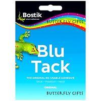BOSTIK BLU TACK 60g ORIGINAL NON-TOXIC HANDY SIZE BLUE TAC REUSABLE ADHESIVE NEW