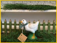 Farmyard Chicken for Garden or Indoor Decor Chick pRiM Gift Tag & Country Scarf