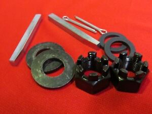 1928-48 Ford rear axle hub nuts, cotters, gaskets washers and key ways B-4243-KT