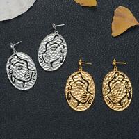 Fashion Women Geometric Alloy Human Face Earrings Ear Drop Dangle Stud Jewelry