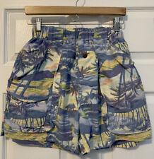 Vintage TOMMY BAHAMA Swim Trunks Men's Medium Lined Blue Tropical